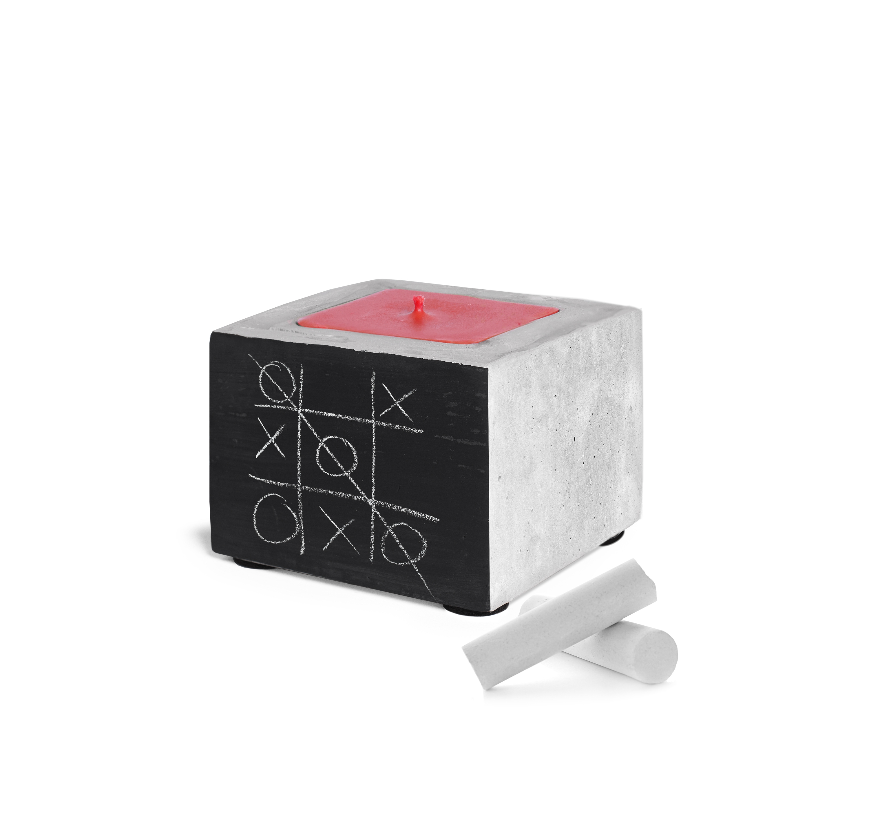 Sojų vaško žvakė su betonu